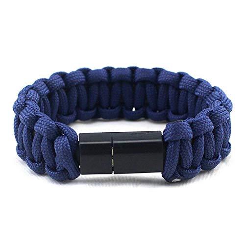 AJIAO USB-Armband Regenschirm Seil Armband Für Samsung Xiaomi Android USB Datenkabel Ladegerät Multifunktions Armbänder Armreifen