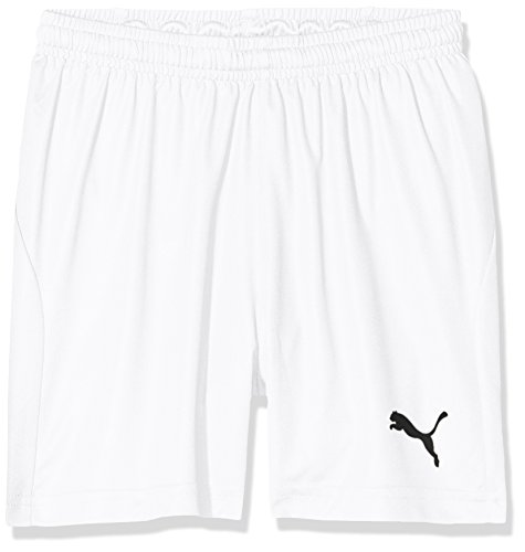 PUMA Kinder Liga Shorts Core w Brief Jr Hose, White Black, 128