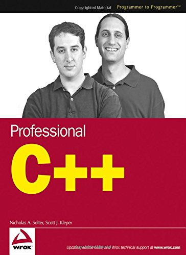 Professional C++ Programming (Programmer to Programmer) por Nicholas A. Solter