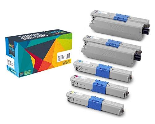 Preisvergleich Produktbild Do it Wiser ® 5 Toner Kompatibel XL für Oki C310 C330 C331 C510 C530 MC351 MC361 MC362 MC561 MC562