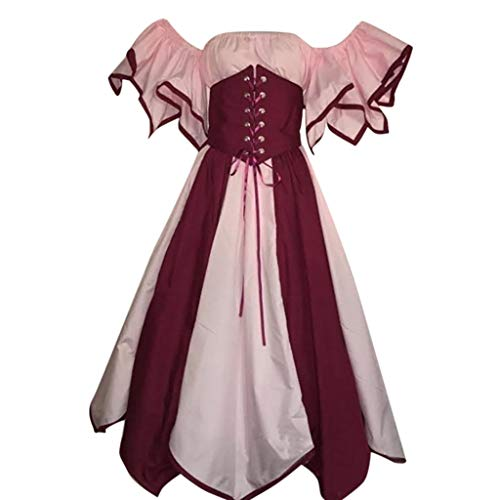 men Viktorianischen Königin Renaissance Prinzessin Kleid Sommerkleid Piebo Frauen Retro Vintage Gothic Rockabilly Punk Cocktailkleid Karneval Party Cosplay Abendkleid ()