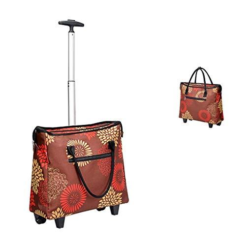YEXIN Fashion Large Rolling Shopper Einkaufstasche , Reisetasche -