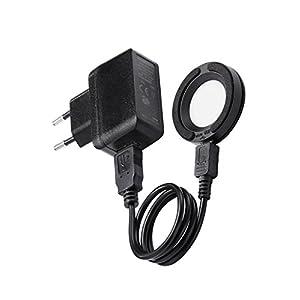 LED Schnellladelampe für Solar Uhren Ladegerät mit USB-Anschluss & Netzadapter