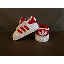 Crochet Pattern Baby Adidas Superstar, baby sneakers, baby shower, booties, shoes (Italian Edition)