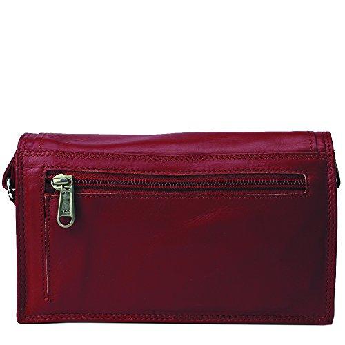 Jenes & Jandura Free Style, Borsa a spalla donna Small Rosso