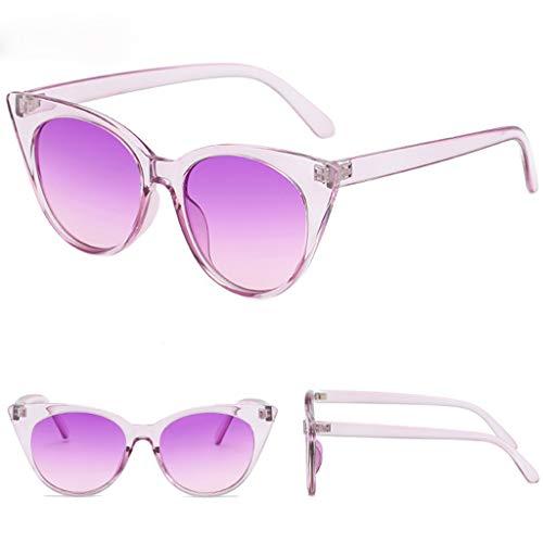 LCLrute Sonnenbrillen,Mode Mann Frauen Smasll Rahmen Herz-Sonnenbrille-Gläser Vintage Retro Stil Verspiegelt UV-Schutz