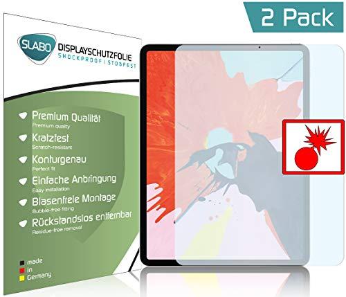 Slabo 2 x Panzerschutzfolie für iPad Pro 11 (2018) Panzerfolie Displayschutzfolie Schutzfolie Folie Shockproof KLAR - unsichtbar Made IN Germany