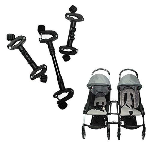 GCDN Connettori Passeggino, 3 Pezzi Baby Cart Assemble Connector Joint Linker Twin Passeggino Connect Adapter Outdoor Toddler Accessorio(Black)