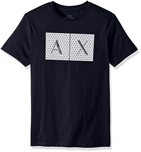 ARMANI EXCHANGE 8nztck T-Shirt, Blu (Navy 1510), X-Large Uomo