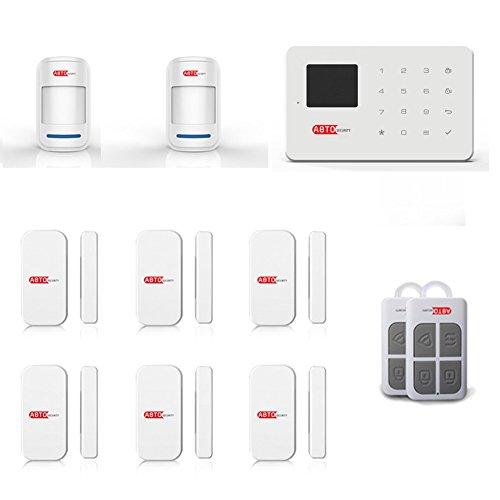 SZABTO DIY GSM Home Security Alarmanlage als Einbruchschutz Sicherheit durch Bewegungsmelder und Türsensoren (E)
