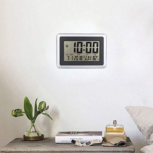 Kongnijiwa El LCD exhibe Digital del Reloj de Pared de Tiempo del termómetro del Calendario de Escritorio...