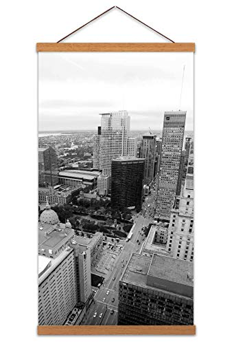 Montreal Canada City Buildings Photo Canvas Wall Art Print Magnetic Hanger Clip Frame 24X12 Inch Kanada Stadt Fotografieren Wand - Clip-art Frames