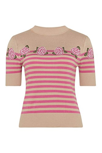 Voodoo Vixen Strick Shirt JULIA ROSES & STRIPES 6243 beige Beige