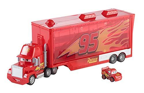 Disney Pixar Cars véhicule Camion Transporteur Mack pour mini voitures, pour transporter jusqu'à 12 mini-véhicules, jouet pour enfant, FLG70