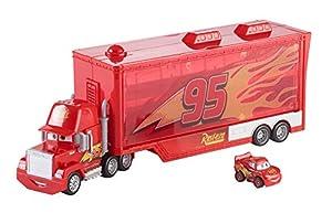 Cars Mack camión mundo de aventuras, coche transportador de juguetes (Mattel FLG70)