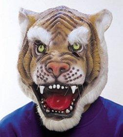 Orlob Maske Tiger Tiermaske zum Katze Kostüm an Karneval Fasching