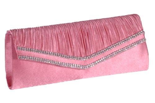 EyeCatchBags - Glory Damen Handtäschchen Party Clutch Täschchen Handtasche Pink
