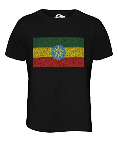 CandyMix Äthiopien Kritzelte Flagge Herren T Shirt Schwarz