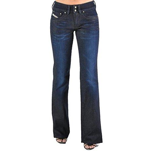 Diesel Damen Boot-Cut Jeanshose Blau Blau