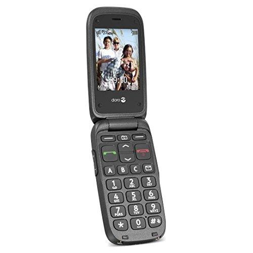 Doro Phone Easy 612 Telefono Cellulare, 32 MB, Nero/Nero