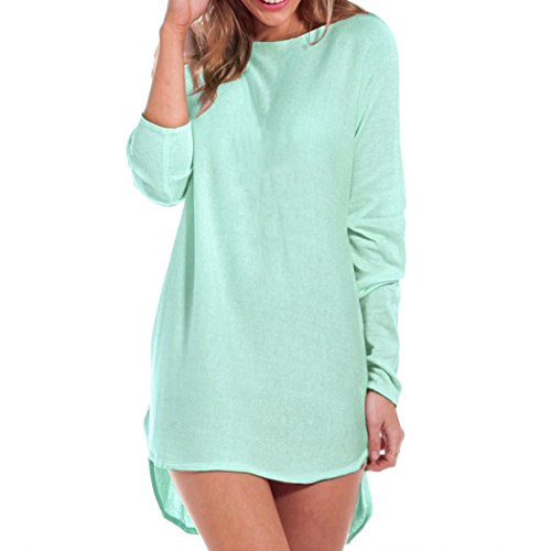 Janisramone - Robe - Robe pull - Uni - Manches Longues - Femme * taille unique Menthe