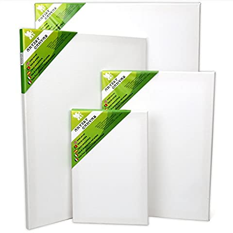 H&S® Set of 4 Artist Blank Canvas Frame Stretcher Acrylic Oil Water Painting Board 20x30cm, 30x40cm, 40x50cm,