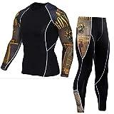 Z-Pertbil Costume de Sport pour Hommes Compression Fitness Sportswear Crossfit...