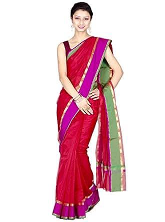 Chandrakala Cotton & Silk Banarasi Saree (7763 _Red)