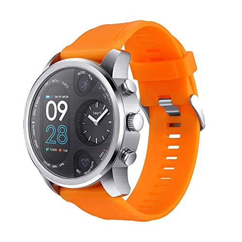Happy-day Unisex GPS Laufuhr Wasserdicht Smart Watch Fitness Activity Herzfrequenz Tracker Schlafüberwachung Schrittzähler Anruferinnerung S Orange, Silber