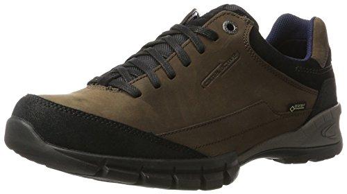camel active Herren Journey GTX 13 Sneaker, Schwarz (Black/Mocca/Black), 44 EU
