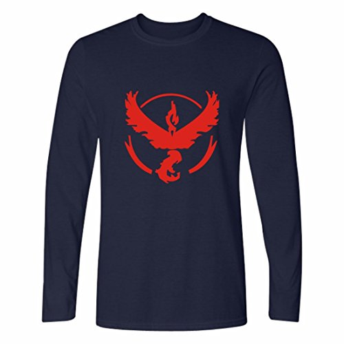 Mens 3D Shirts Cotton Yeezy Long Sleeve Crewneck Pokemon Go Sweatshirt red