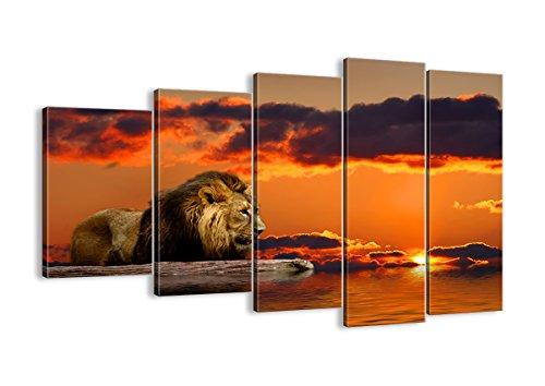 Cuadro sobre lienzo - 5 piezas - Impresión en lienzo - Ancho: 150cm, Altura: 100cm - Foto número 0230 - listo para colgar - en un marco - EG150x100-0230