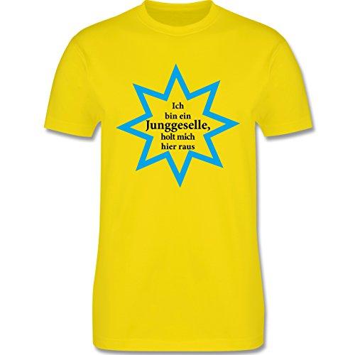 JGA Junggesellenabschied - Junggeselle - Holt mich hier raus - Herren Premium T-Shirt Lemon Gelb