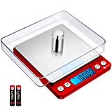 Brifit Pocket Scale, 500g x 0.01g High Precision Smart Scale with 100g Weight, Mini Kitchen Scale with Backlit, 2 Trays, Jewelry Scale with Tare and PCS Function, Stainless Steel, Black