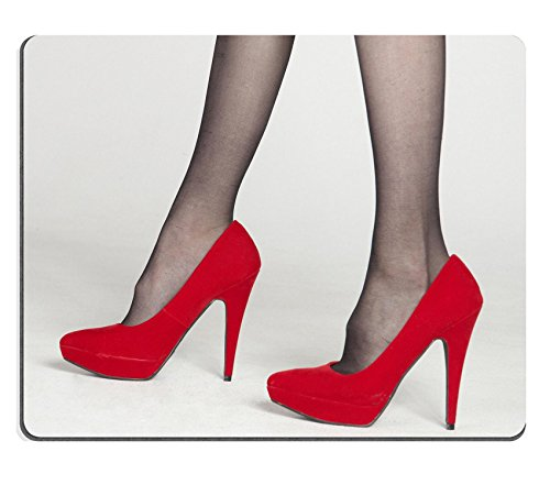 liili Mouse Pad de goma natural mousepad Close Up de rojo tacón alto zapatos imagen ID 12178210
