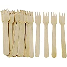 Prakritii cultivating green wooden fork (6.5 inches) pack of 50