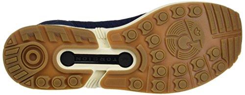 adidas Unisex-Erwachsene Zx Flux Primeknit Trainer Low Blau (Collegiate Navy/collegiate Navy/gum)