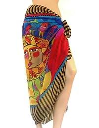 Sarong Pareo Wrap jupe PRESKIN écharpe écharpe estival pour la plage