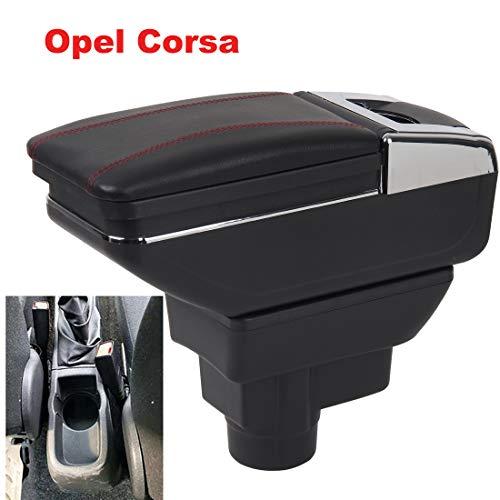 Apoyabrazos para Corsa 2006-2019 Reposabrazos Caja Consolas Almacenamiento con portavasos Cenicero