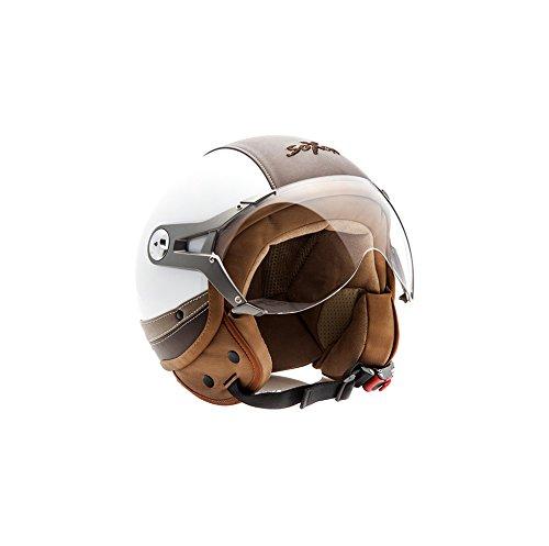 SOXON SP-325-URBAN White · Cruiser Motorrad-Helm Bobber Pilot Vintage Retro Mofa Helmet Biker...