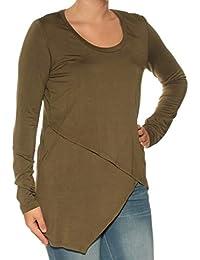 b1277839f25643 Karen Scott Womens Green Long Sleeve Scoop Neck Hilo Top Size  S