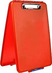 Dexas Slimcase Storage Clipboard, Red