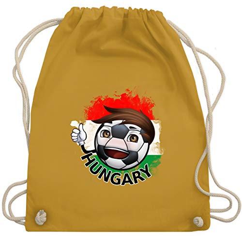 Fußball - Fußballjunge Ungarn - Unisize - Senfgelb - WM110 - Turnbeutel & Gym Bag