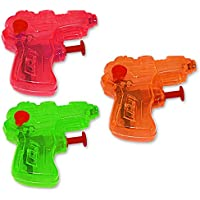 Spielzeug 4 x Wasser Pistole Wasserpistole bunt 11cm Kinder Geburtstag Giveaway Spielzeug