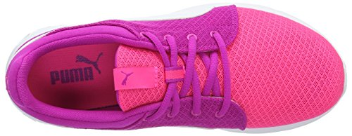Puma Carson Runner 400 Mesh Jr, Scarpe da Ginnastica Basse Unisex – Bambini Rosa (Knockout Pink-puma White 04)