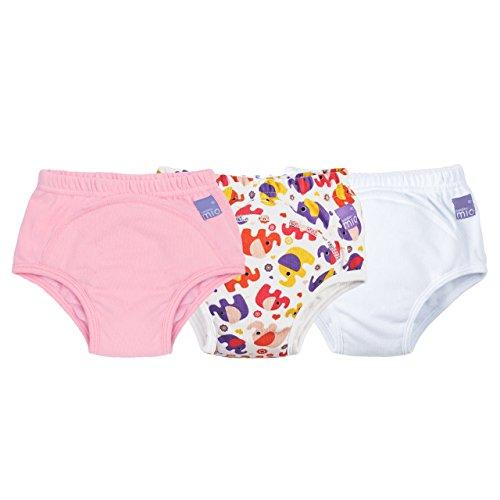 Bambino Mio, mutandina allenatrice, misto bimba elefante rosa, 2-3 anni, confezione da 3