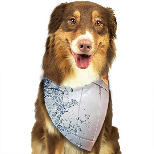 Osmykqe Hundebandana-Haustier-Schal-Volleyball-klassischer niedlicher Haustier-Hündchen-Bandana-Schal Lätzchen -