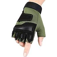 DEI QI Guantes tácticos de los Hombres Deportes de la Aptitud Militar Deportes Guantes de Medio Dedo de los Hombres Guantes de Dedo de los Hombres con Antideslizante Usable/Lucha Unisex al Aire libr