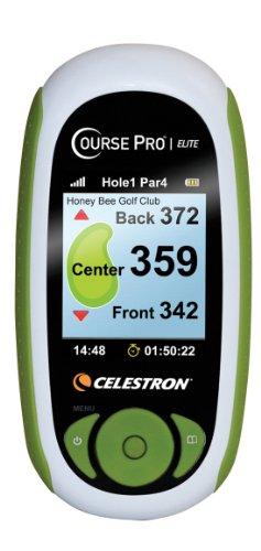 Celestron 44877 Course Pro Elite Golf - GPS (medidor de distancias, sensibilidad SiRF Star III, 20 canales paralelos, mini USB) color blanco [Importado de Alemania]
