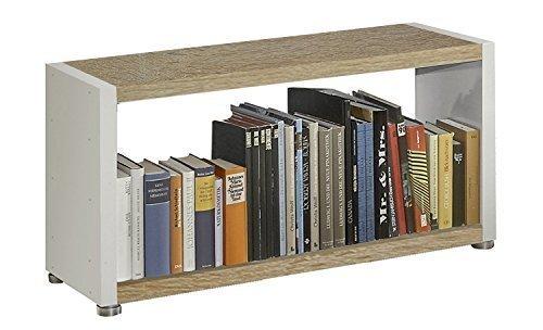Regalsystem Raumteiler Bücherregal Standregal READY 12B Weiß Sonoma Eiche
